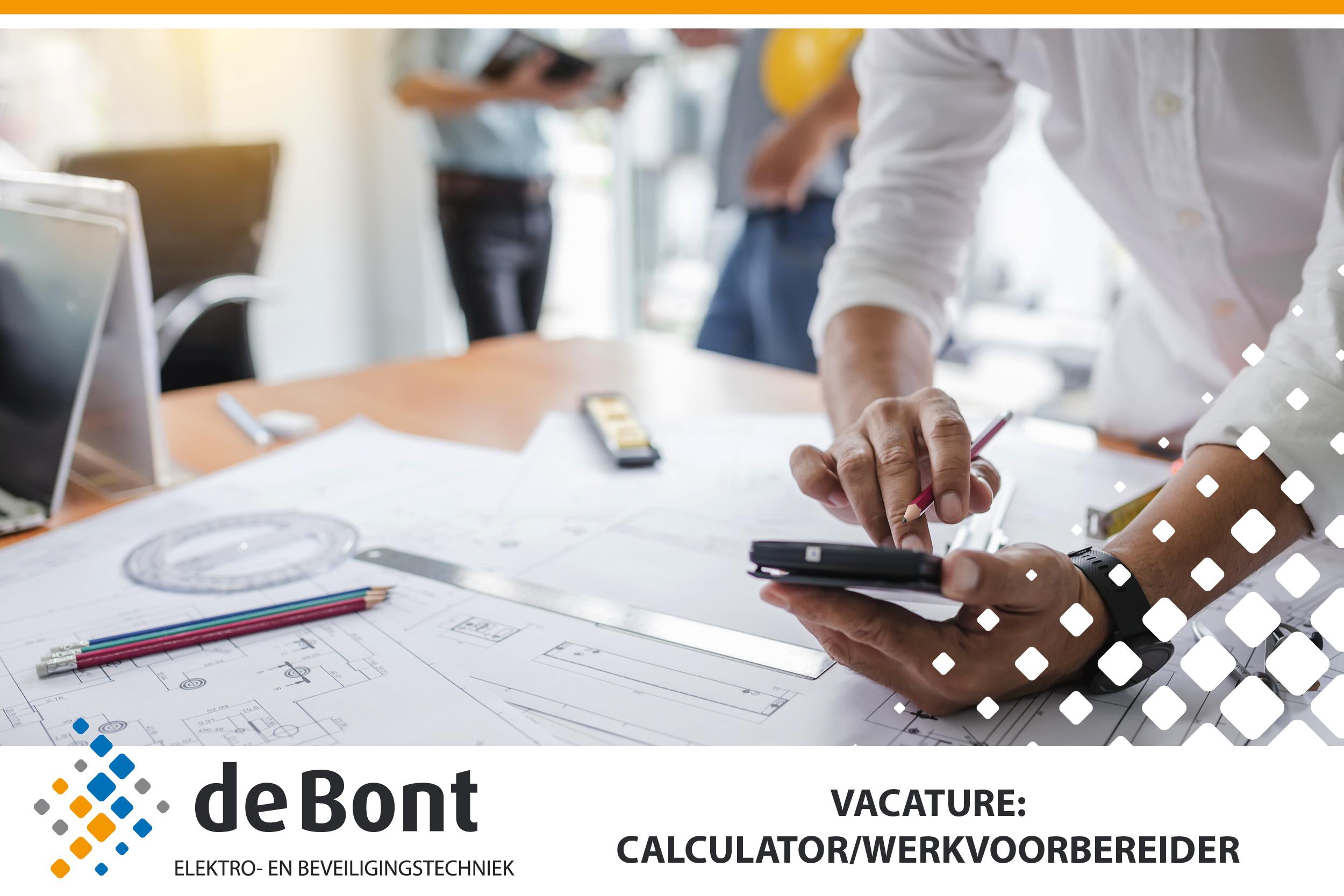 Ben jij onze nieuwe calculator/werkvoorbereider?